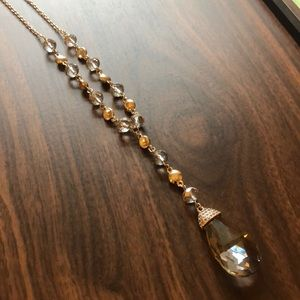 The Limited long and gold necklace